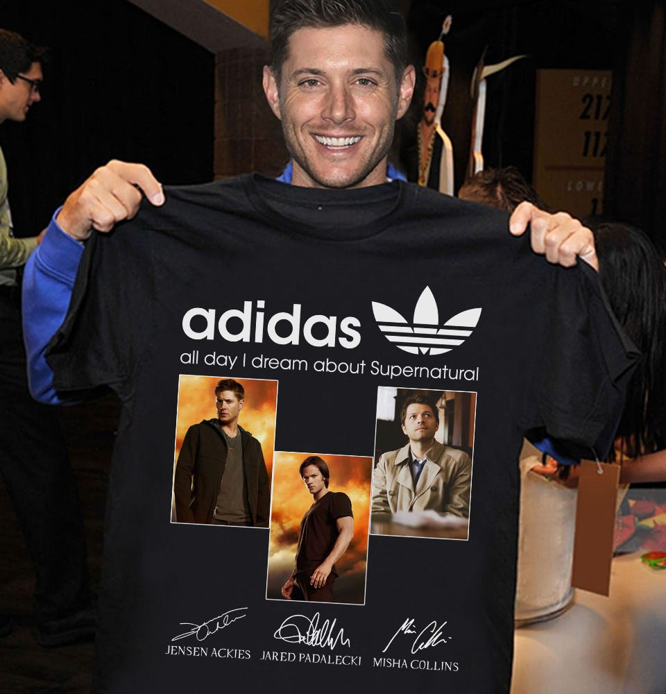 Adidas all day I dream about supernatural Jensen Ackies Shirt
