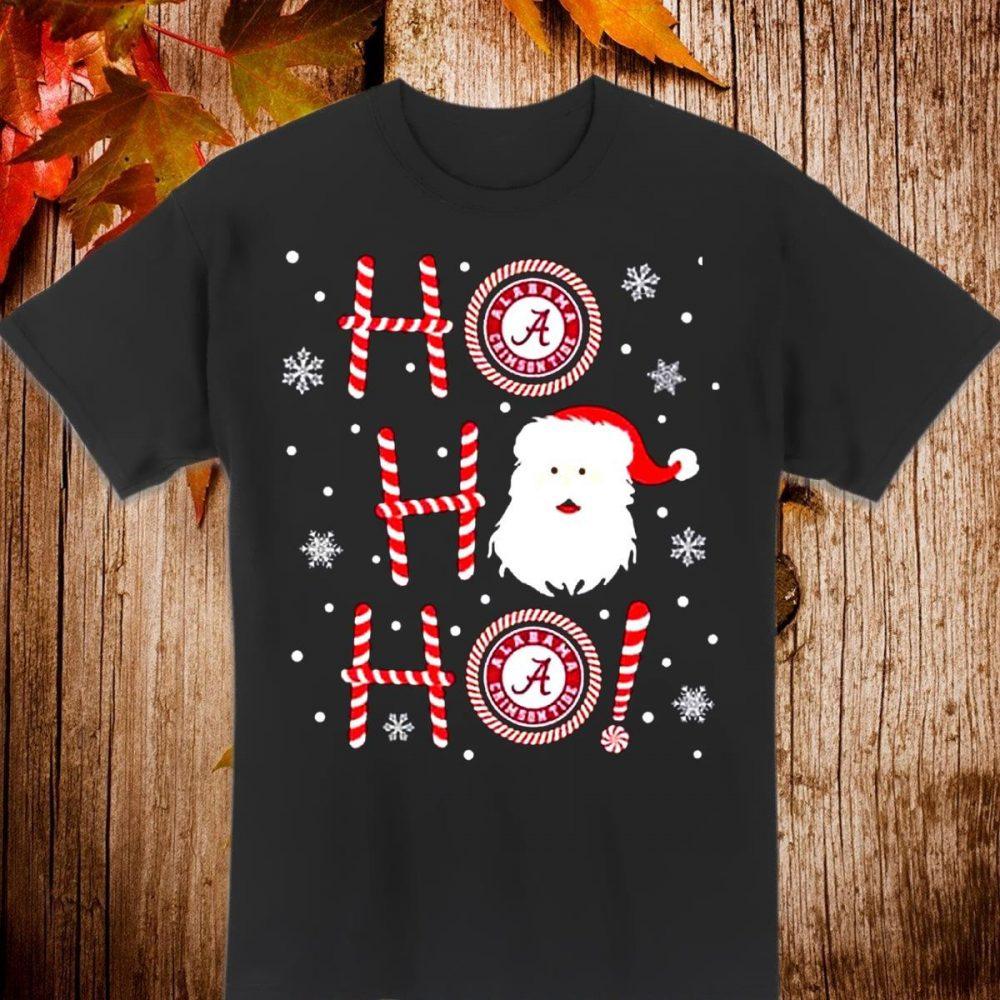 Ho Ho Ho Santa christmas Alabama Crimson Tide Shirt