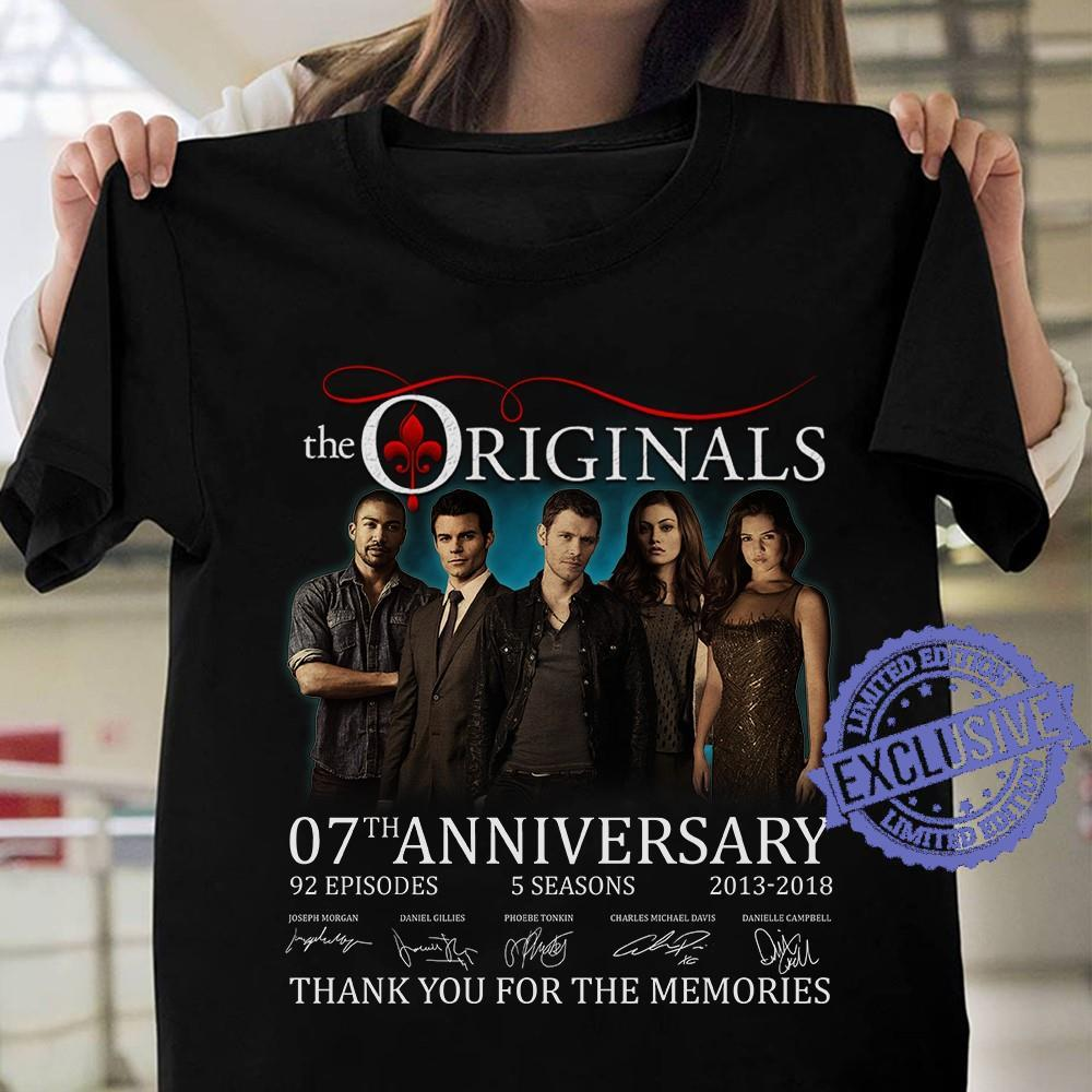 The originals 07th anniversary thank you for the memories shirt