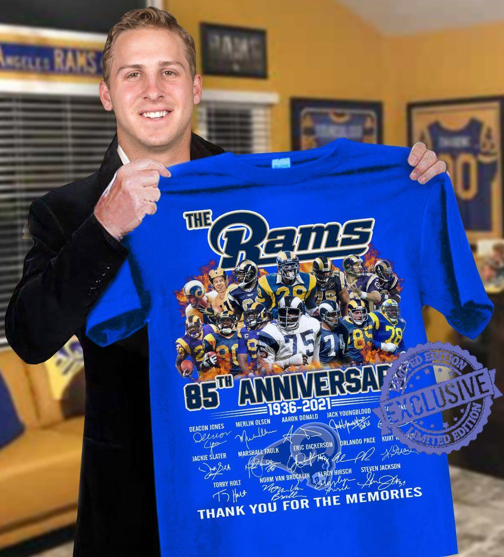 The rams 85th anniversary 1936 2021 thank you for the memories shirt