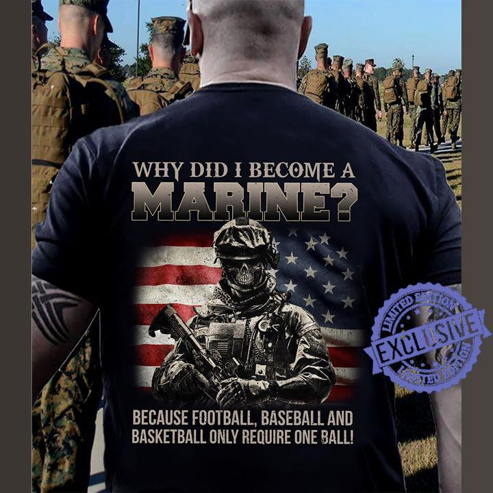 Why did i become a marine because football baseball and basketball only require one ball shirt